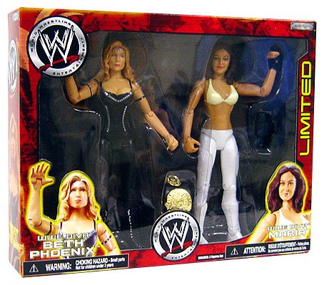BETH PHOENIX & MARIA WWE JAKKS INTERNET EXCLUSIVE 2 PACK ACTION FIGURE TOY Picture