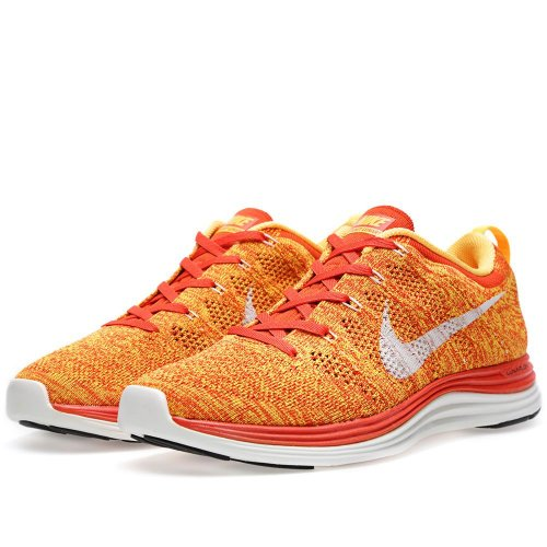 Nike Flyknit Lunar 1+ Multicolor Orange White - 9.0 / 42.5