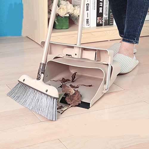 BJM Duo-Pan Dustpan & Lobby Broom Combo, 3 Foot Overall Height, blue (8131CM) (JY8593 BENJI) (Mop Broom Combo compare prices)