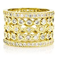 Zola's Set of 5 Stackable Rings- Gold Plated
