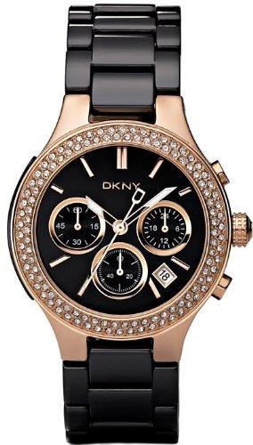 DKNY Ceramic Glitz Chronograph Black Dial Women's watch #NY4984
