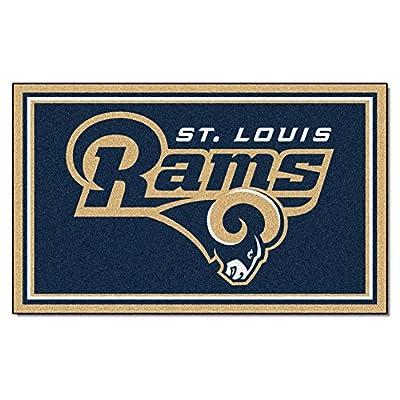 FANMATS NFL Los Angeles Rams Nylon Face 4X6 Plush Rug