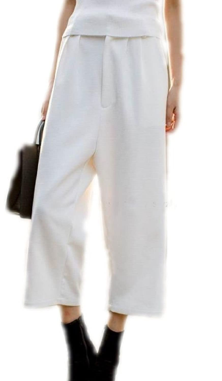 Amazon.co.jp: (Route de soleil)キレイめカジュアル ガウチョパンツ ワイドパンツ ホワイト: 服&ファッション小物通販