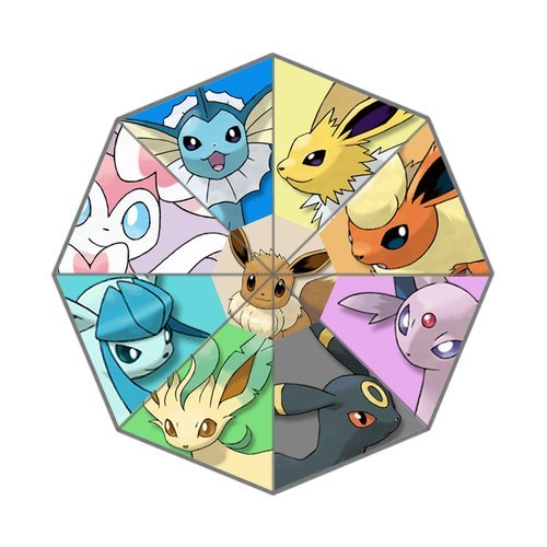 Pokemon Cute Pet Eevee Foldable Umbrella