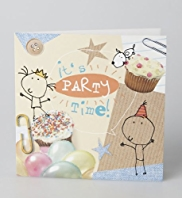 10 Balloons & Cupcakes Party Multipack of Cards