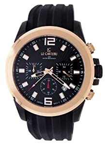 Le Chateau Men's 5701MRUB_CHR_BLK Cautiva-Sports Watch