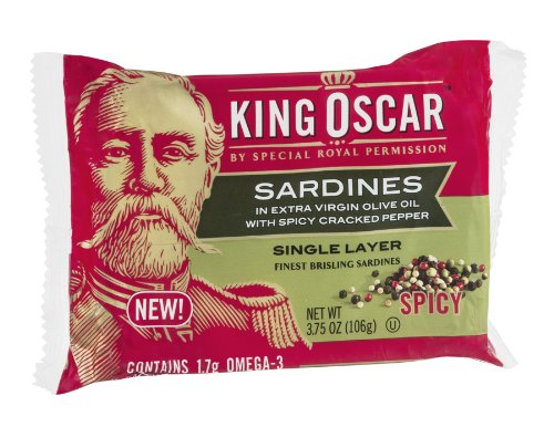 King Oscar Sardines In Extra Virgin Olive Oil With Spicy Cracked Pepper, 3.75 Oz
