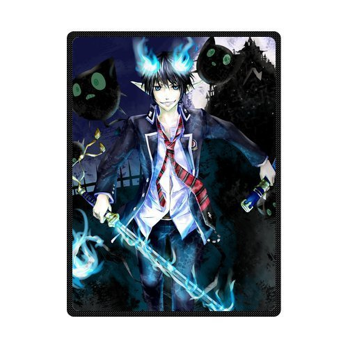 sysuser-japanese-anime-cartoon-blue-exorcist-okumura-rin-custom-blanket-58x80-inch-creative-cotton-b