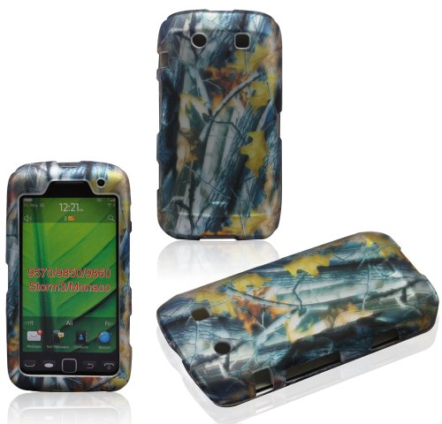 2D Camo Branches BlackBerry Torch Monaco Storm3 9850 9860 9570 AT&T Case Cover Hard Case Snap-on Rubberized Touch Case Cover Faceplates