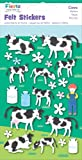 Fiesta Crafts Cow Felt Stickers Pack of 6