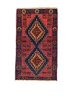 L'EDEN DEL TAPPETO Alfombra Beluchistan Rojo/Multicolor 90 x 152 cm
