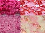 美しい花嫁 フラワーシャワー 厳選 花びら 4種 1200枚 結婚式 ウエディング (ピンクシャワーA)