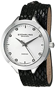 Stuhrling Original Women's 624.01 Vogue Analog Display Swiss Quartz Black Watch