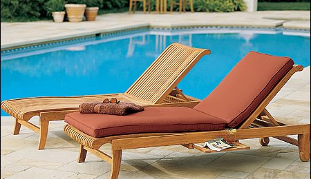 New Grade A Teak Multi Position Sun Chaise Lounger