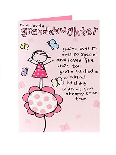 Cute Granddaughter Birthday Card