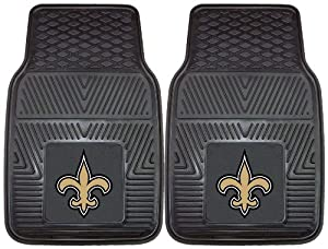 FANMATS NFL New Orleans Saints Vinyl Heavy Duty Vinyl Car Mat by Fanmats