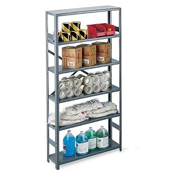 edsal economical open steel shelving. Black Bedroom Furniture Sets. Home Design Ideas