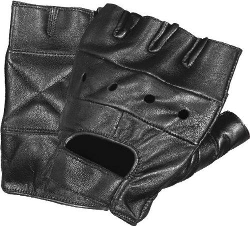 First Manufacturing Lightweight Fingerless Gloves (Black, Small)