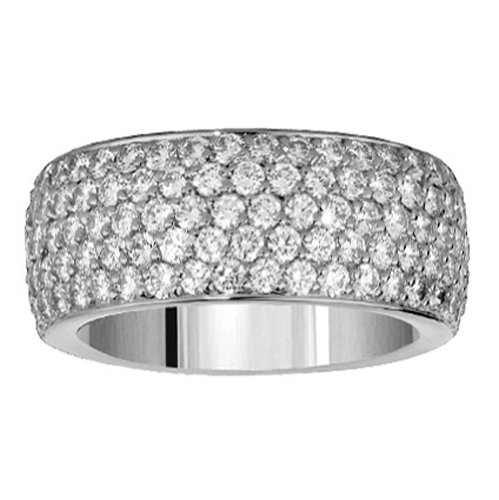 2.00 CT TW Pave Set 5-Row Anniversary Diamond