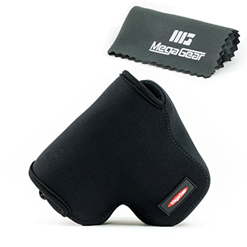 MegaGear ''Ultra Light'' Neoprene Camera Case Bag with Carabiner for Canon PowerShot SX60 HS Digital Camera (Black) (Canon Sx60 Hs Case compare prices)