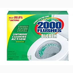 2000 Flushes 290088 Chlorine Antibacterial Automatic Toilet Bowl Cleaner Twin-pack 1.2 OZ