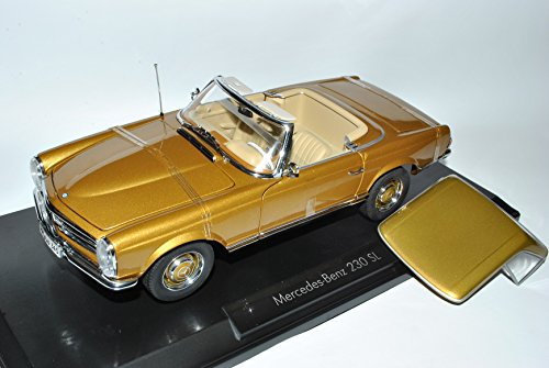 Noreve Mercedes-Benz 230SL Pagode Roadster Gold W113 1963-1971 1/18 Norev Modell Auto