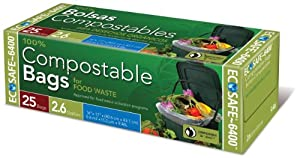 EcoSafe 25-Count Garbage Bags, 2.6-Gallon, by Presto Products - Lawn & Garden