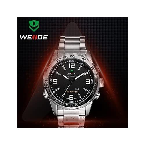 WEIDE® Men's Round Dial Full Steel Watch Band Janpan Movement Analog Digital Alarm Diver Watch(Assorted Colors...