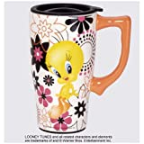Looney Tunes Tweety Bird with Flower Travel Mug