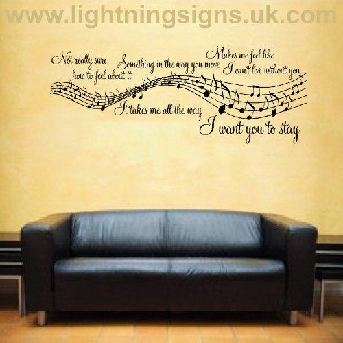 Bedroom Walls Song Song Lyric Wall Art
