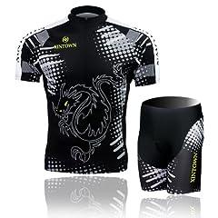 Buy Baleaf Mens Short Sleeve Cycling Jersey Black Dragon Style by Baleaf
