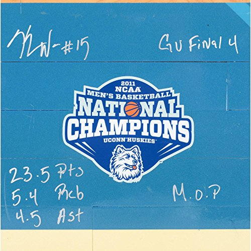 kemba-walker-connecticut-huskies-autographed-12-x-12-game-used-2011-final-4-floorboard-with-mop-235-