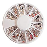 Evermarket(Tm) Mixed Pattern Acryl Diamond Wheel Nail Art Decorations