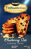 Nonnis Thin Addictives: Blueberry Oat Almond Thins (Pack of 3) 4.4 oz Boxes
