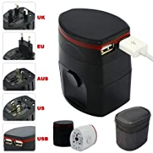 buy First2Savvv Luxury Universal Worldwide Travel Power Adaptor And Usb Charger - African / European / American / Australian / Holiday Plug Adapter - Covers Over 150 Countries For Htc Sense