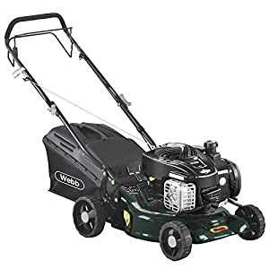 Webb R16SP Self Propelled Petrol Rotary Lawnmower 420mm Cut Width with Steel Deck & Briggs & Stratton 4 Stroke Engine