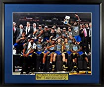 Golden State Warriors Championship Team Shot 11x14 Photograph (w/ NBA CHAMPIONS Plate) Framed