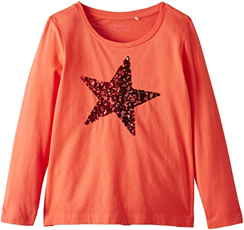 ESPRIT Girl's 3 AW T-Shirt, Coral Red, 4 Years (Manufacturer Size:104+)