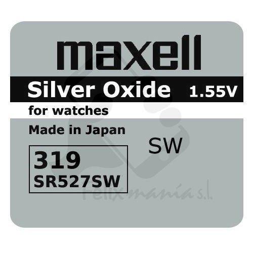 1 X Pile Maxell 319 SR527SW Batterie Originale 1,55 V Boutons Pile Oxyde D'argent Maxell Livraison 48/72H Felixmania®