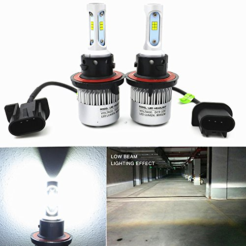 Alla Lighting New CSP Xtremely Bright LED Headlight Bulbs w/ High Power 8000Lm 6000K White Lamps (H13 9008) (2014 Ram Headlight Bulb compare prices)