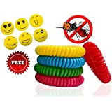 DBfresh Mosquito Repellent Bracelets and Patches - Repel Mosquitoes and Bugs - Resealable 10 Pack Bracelet and 6 Smily Patch in Zip Lock Bag for Longer Use - Non Toxic, Deet Free, No-Spray - For Wrist Bands Babies, Kids, Toddler & Adults - for Your Home, Garden, Jungle & Outside Travelling & Camping