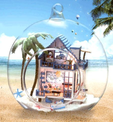 I Decorate Tsuruse ? Pitch Sensor Mounted Led Lights Spread Fun Cute ? Prefabricated As The Interior Of The Glass Ball Type Dollhouse ? Summer