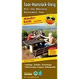 Wanderkarte Saar-Hunsrück-Steig: mit Ausflugszielen, Einkehr- & Freizeittipps, Entfernungen, Etappen, Höhenprofile, wetterfest, reissfest, abwischbar, GPS-genau. 1:25000