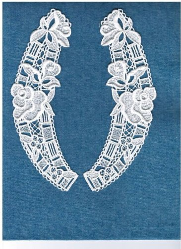 2pcs Sweet Venice Lace Floral Collar in Ivory