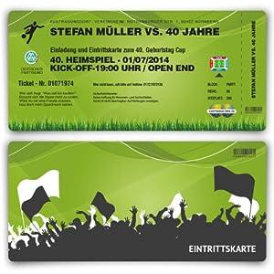 Einladungskarten Zum Geburtstag (30 Stück) Als Fussballticket ...