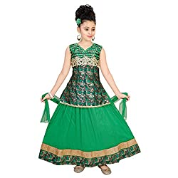 SAARAH Green Lehenga Choli Set (EMP3155)