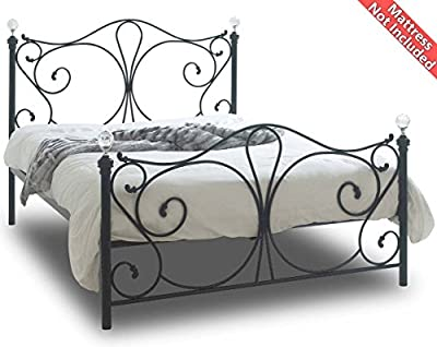 Sareer Sherry Black Double Metal Bed Frame
