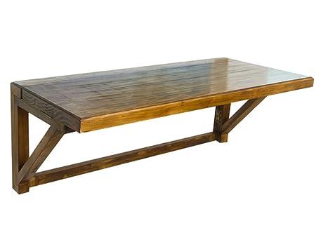 HWF Mesa plegable de pared Tabla de plegamiento de la tabla de madera sólida del estilo americano que aprende la tabla de cena del escritorio de la computadora 100 * 40cm, 120 * 50cm ( Tamaño : 100*40cm )