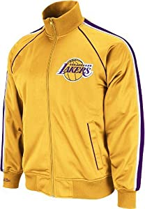 NBA Mitchell & Ness Los Angeles Lakers Gold Final Score Full Zip Track Jacket by Mitchell & Ness