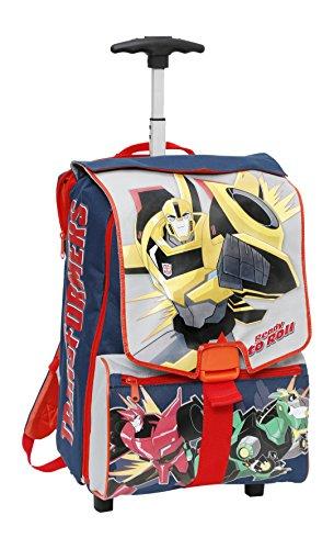 Giochi Preziosi - Transformers Zaino Trolley Scuola Estensibile, con Braccio Meccanico in Omaggio